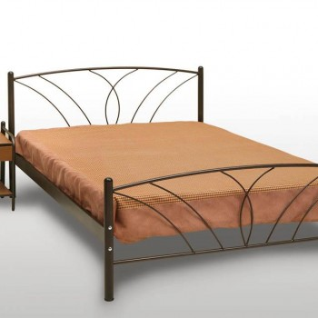Double bed in carbon colour with matress