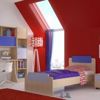Kids and teenager bedroom set SKITHOS 1