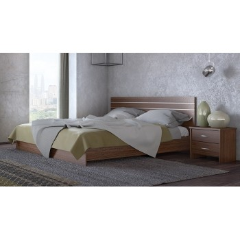 Laminated king size bed