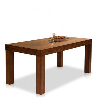 Wooden Table with glass and extensions