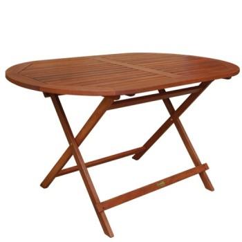 External table 120cm oaval