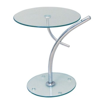 Modern round table with crystal top