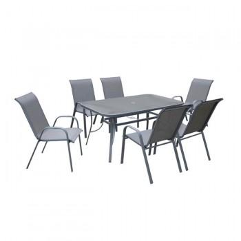 VERONA Set (Table+6 Armchair)