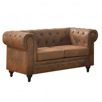 3seat chesterfield leather sofa