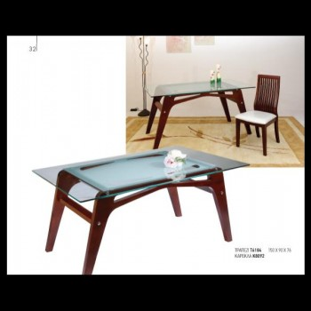 Table with glass surface