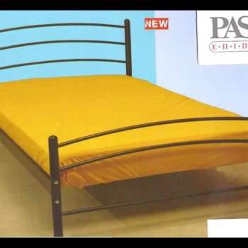 Double bed in carbom colour with matress