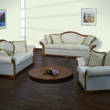 Newclassic sofa set with wood