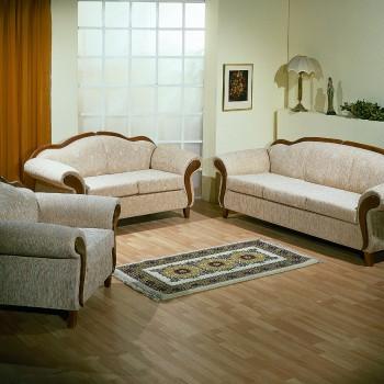 Sofa set with wood