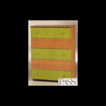Chest of 5 deep drawers
